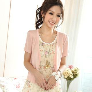 Buy Tokyo Fashion Inset Cardigan Floral Chiffon Dress 1023000458