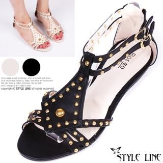 Picture of STYLE LINE Studded Sandals 1023003002 (Sandals, STYLE LINE Shoes, Korea Shoes, Womens Shoes, Womens Sandals)