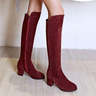 Image of Block Heel Over-the-knee Boots