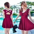 Frill Trim Swimdress 1596