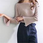 Raglan-Sleeve Slit-Detail Knit Top 1596