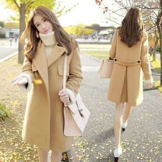Notched Lapel Coat 1062931993
