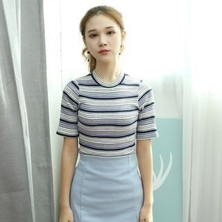 Stripe Slim-Fit Ribbed Top 1057469351
