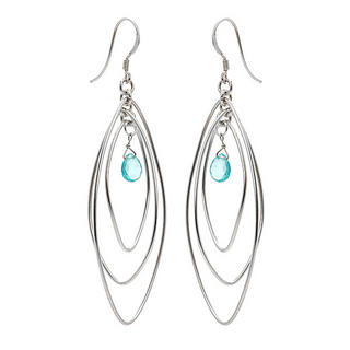 Silver Apatite Earrings - United states