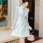 Frilled Trim A-Line Dress 1596