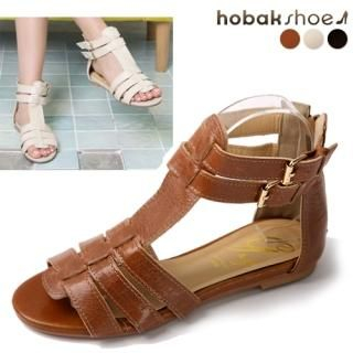 Buy HOBAK girls Genuine Leather T-Strap Sandals 1022927776