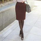 Stitch-Trim Pencil Skirt 1596