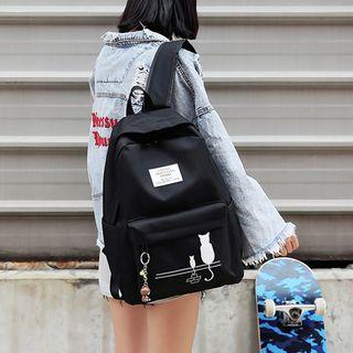 Image of Canvas Printed Zip Backpack