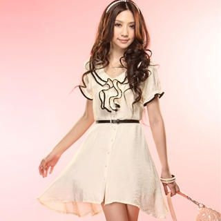 Buy Tokyo Fashion Ruffle Button-Front Belted Dress 1022968496