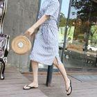 Maternity Tie-Waist Striped Dress 1596