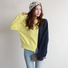 Drop-Shoulder Color-Block Sweatshirt 1596