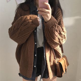 Ribbed Long Cardigan 1062649687