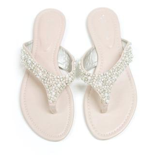 Picture of AKA Rhinestone + Faux Pearl Flip Flops 1022890394 (Other Shoes, AKA Shoes, Korea Shoes, Womens Shoes, Other Womens Shoes)