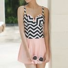 Chevron Patterned Swim Dress 1596