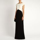 Sleeveless Color Block Evening Gown 1596