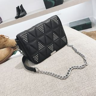 Studded Quilted Crossbody Bag