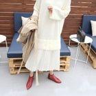 Pleated-Hem Knit Dress 1596