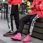 Two-Tone Lettering Sweatpants 1596