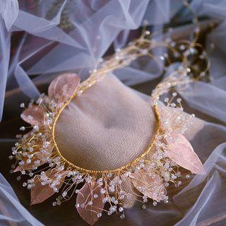 Headband   Wedding   Crystal   Band   Leaf   Hair   Faux   Gold   Size   One