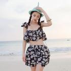 Set: Floral Tankini + Skirt 1596