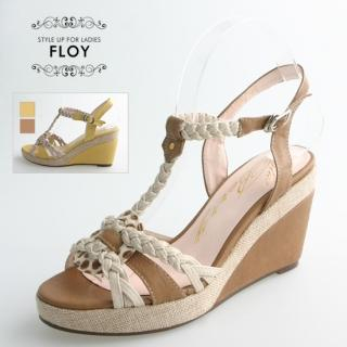 Buy FLOY SHOES Braided-Strap Wedge Sandals 1023053815