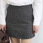Band-Waist Checked Mini Skirt 1596