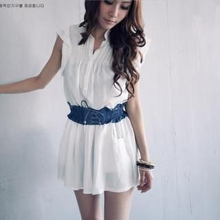 White Lace Dress on Dress White One Size 1023051860 Brand From Taiwan Puffy Color White