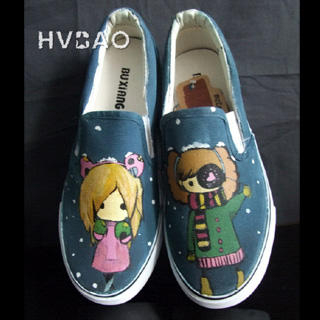 Picture of HVBAO Girls in Winter Slip-Ons 1019928018 (Slip-On Shoes, HVBAO Shoes, Taiwan Shoes, Womens Shoes, Womens Slip-On Shoes)