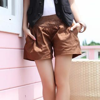 Picture of 19th Street Rhinestone-Waist Shorts 1023052548 (Womens Shorts, 19th Street Pants, China Pants)