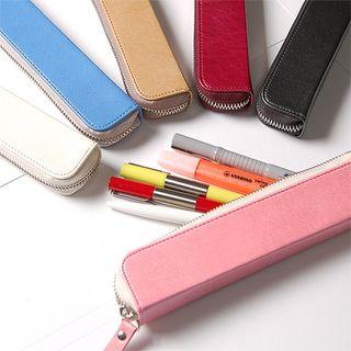 Faux-Leather Zip Pencil Case 1046443832