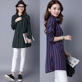 Striped Long Shirt 1053904250