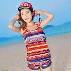 Set: Striped Bikini + Top + Shorts 1596