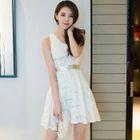 Sequined Sleeveless A-Line Dress 1596