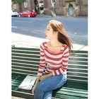 Striped Ribbed Top 1596