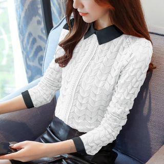 Ribbed Long-Sleeve Knit Top 1063903731