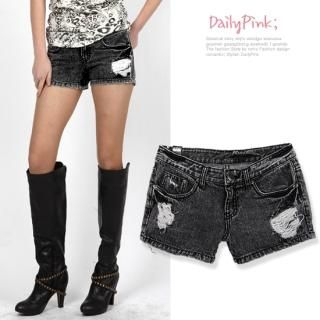 Buy Daily Pink Distressed Denim Shorts 1022317772