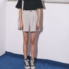 Pleated Wide-Leg Shorts 1596