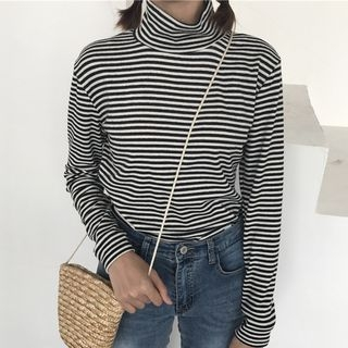 Mock-neck Long-Sleeve T-shirt 1062784991