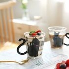 Cat Accent Glass Cup 1596