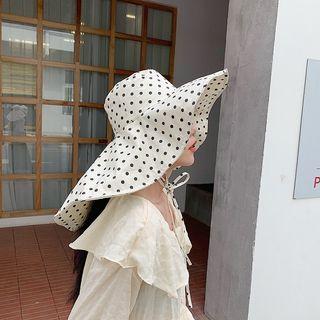 Polka   Beige   Size   Sun   Dot   Hat   One