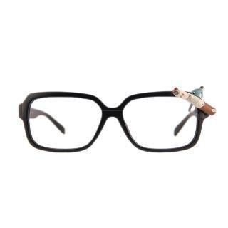 Burning Cigarette Glasses Black - One Size 1044644526