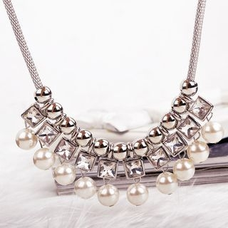Rhinestone Statement Necklace 1049458203