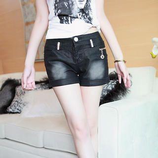 Buy Meteshow Washed Cuffed Denim Shorts 1022954355