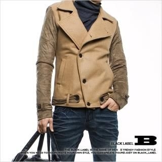 Picture of Style Impact Asymmetric Placket Wool Blend Jacket 1021927541 (Style Impact, Mens Jackets, Korea)