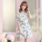 Floral A-Line Dress 1596