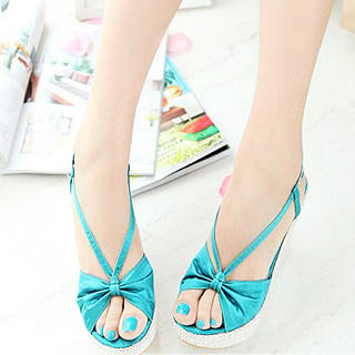 Buy KAWO Bow Strappy Wedges 1022912132