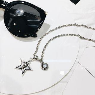 Star Rhinestone Pendant Necklace