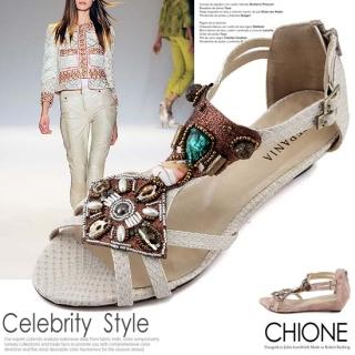 Picture of Chione Bejeweled T-Strap Sandals 1022591083 (Sandals, Chione Shoes, Korea Shoes, Womens Shoes, Womens Sandals)