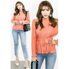 Tie-Waist Ribbed Blouse 1596