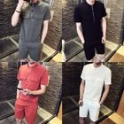 Set: Short-Sleeve Pocketed Top + Shorts 1596